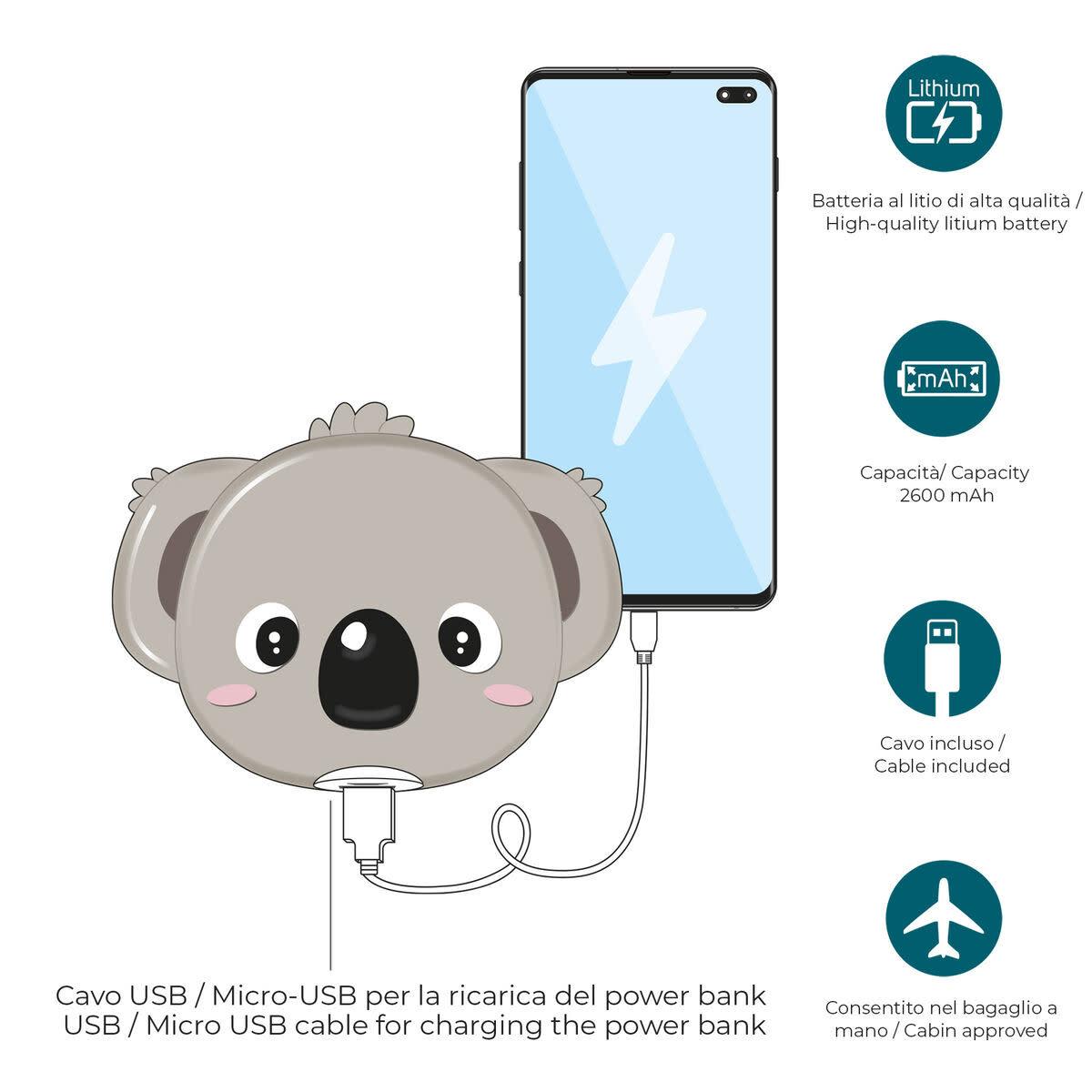 Legami My super power - extern battery - koala