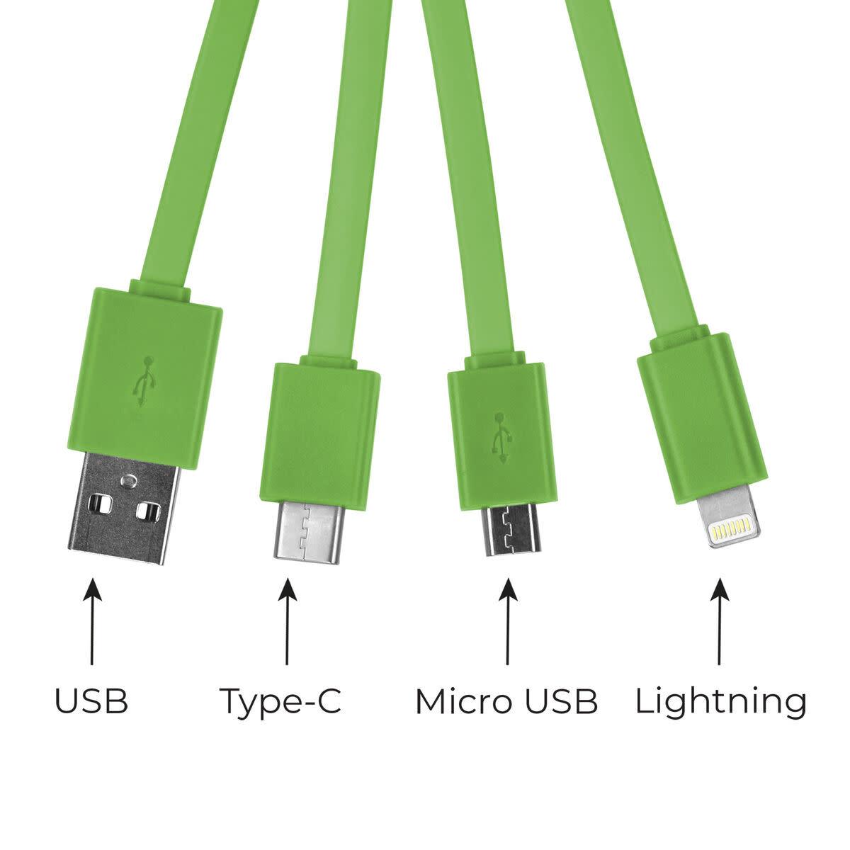 Legami Multiple charging cable - avocado