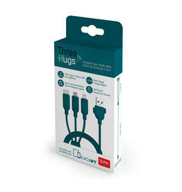Legami Three hugs charge & sync multi cable