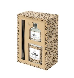 The Gift Label Gift box candle + reed diffusor 'Stay fabulous'