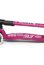 Micro Mobility Maxi Micro Deluxe foldable LED Berry red