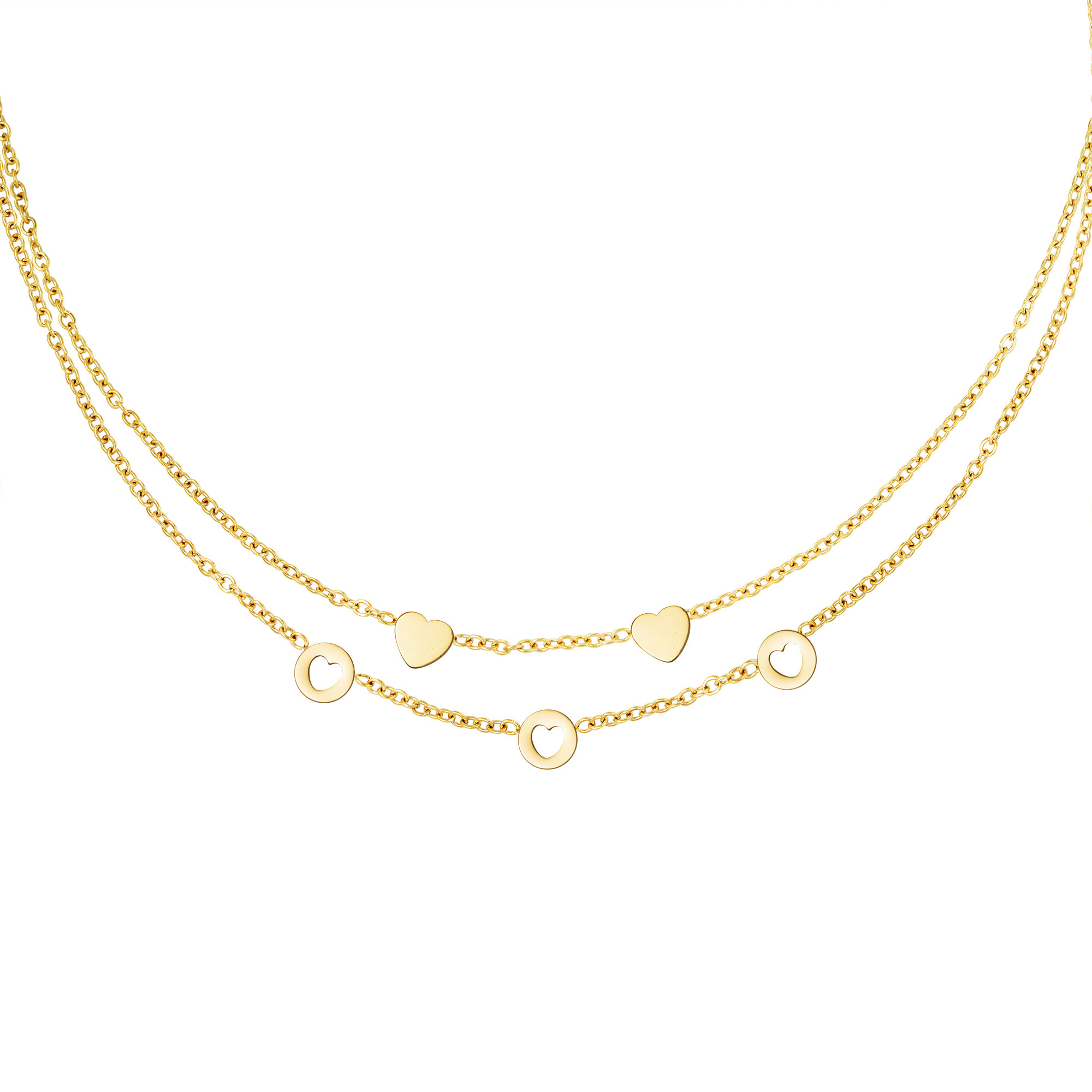 With love Necklace romance gold