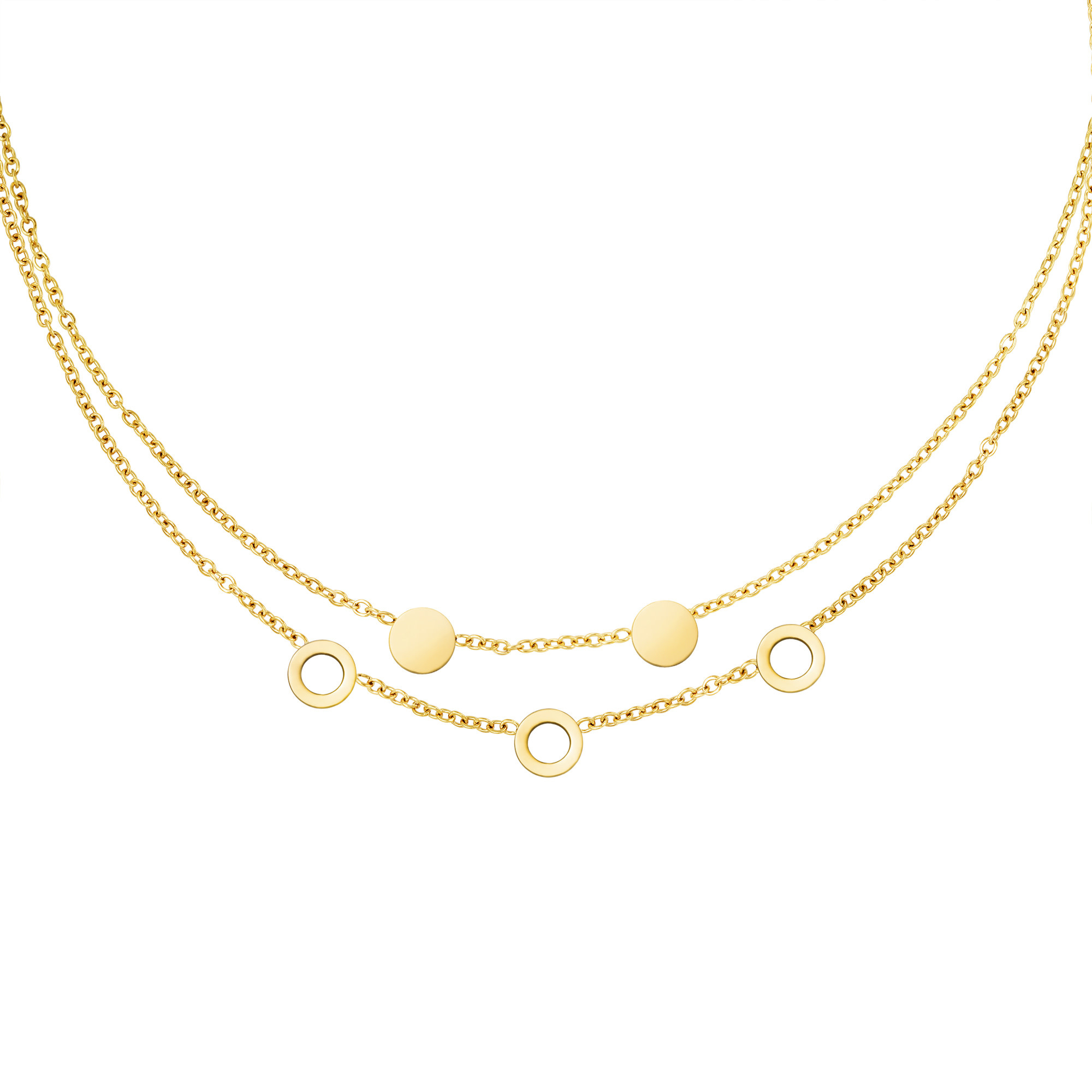 With love Necklace it's mutual gold