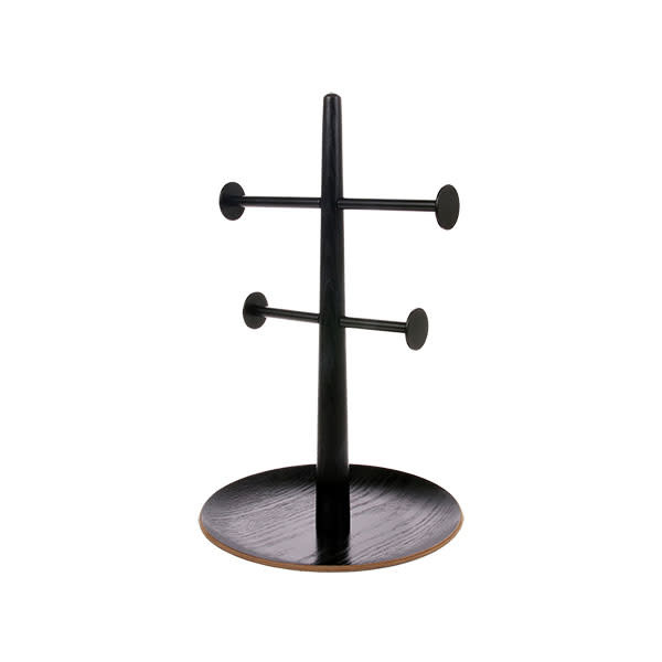 HK Living Black wooden metal jewellery rack 19x19x31cm