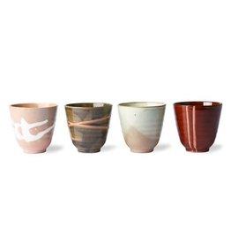HK Living Kyoto ceramics - Japanese yunomi mugs (set of 4)