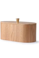 HK Living Willow wooden storage box 23x11x10cm