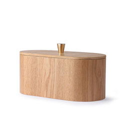 HK Living Willow wooden storage box 23x11x10cm
