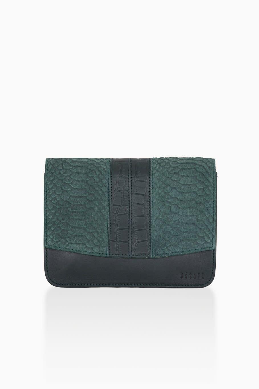 Détail Detail Hope handbag Green anaconda 21 x 7 x 15 cm