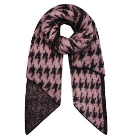With love Scarf winter wonder - pink black