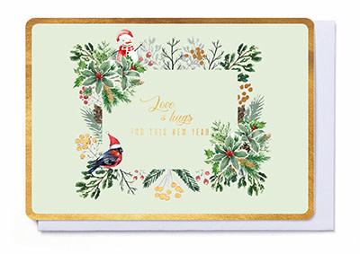 Enfant Terrible Enfant Terrible card  + enveloppe 'love & hugs for this new year'