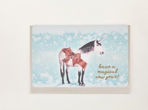 Enfant Terrible Enfant Terrible 5 greeting cards  + enveloppes 'Have a magical new year unicorn'