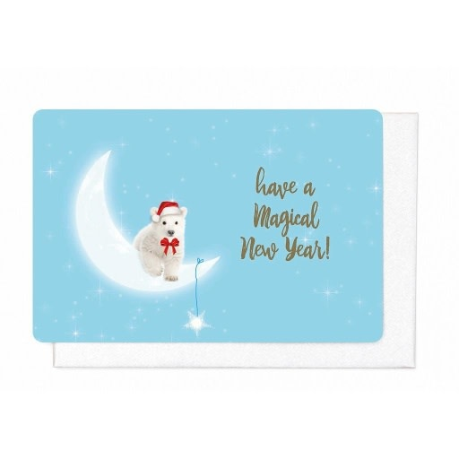 Enfant Terrible Enfant Terrible 5 greeting cards  + enveloppes 'Have a magical new year ice bear'