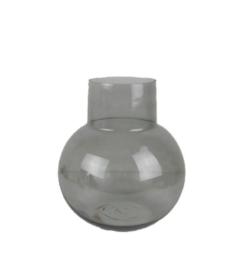 Vase Coyo black glass 26 x 30 cm