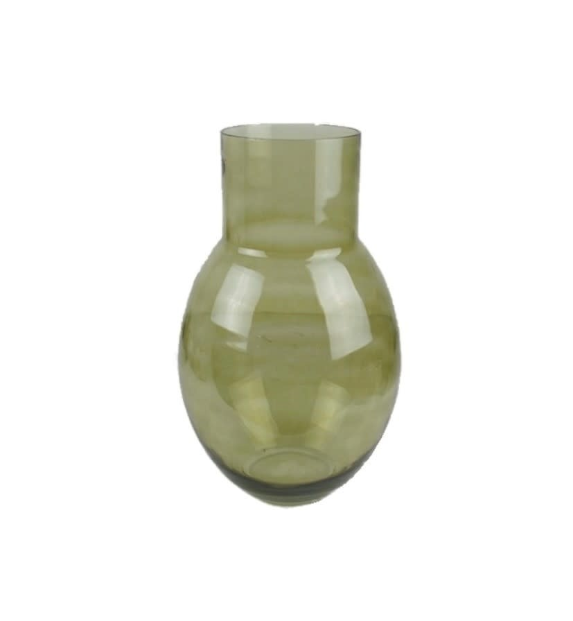 Vase Coyo green glass 24 x 40 cm