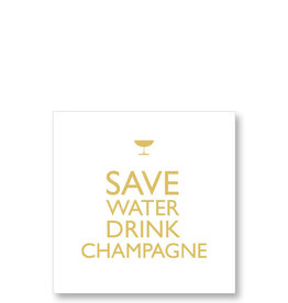 Paperproducts Design 20 napkins save water, drink champagne  25 x 25 cm