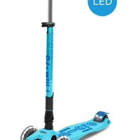 Micro Mobility Maxi Micro Deluxe foldable LED bright blue