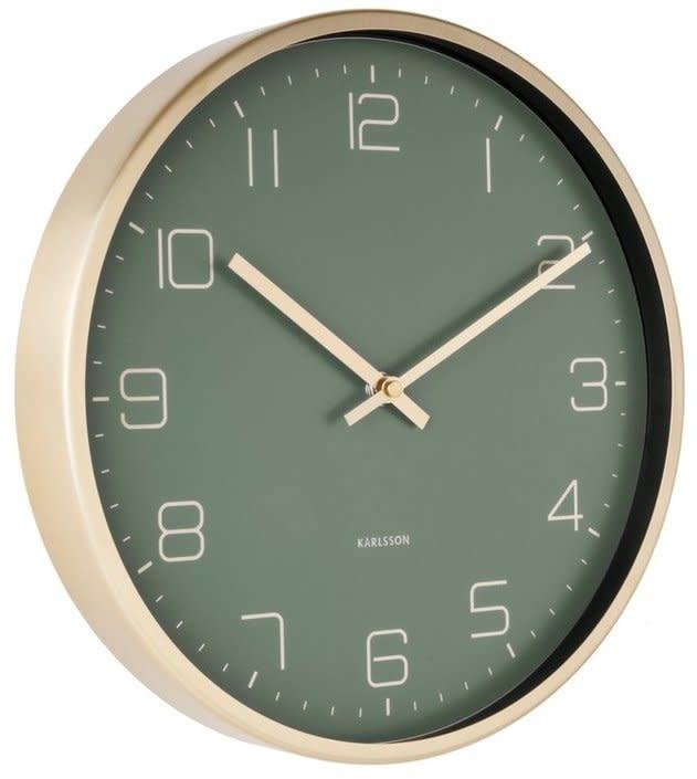 Karlsson Wall clock Gold Elegance - green 30 cm