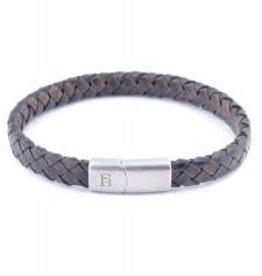 Steel & Barnett Leather bracelet Riley - Vintage brown S