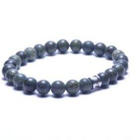 Steel & Barnett Stones bracelet basic - Serpentine - Size L