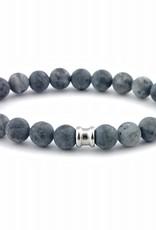 Steel & Barnett Stones bracelet basic - Matt Lavikite - Size M