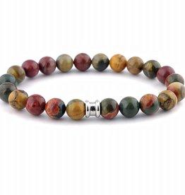 Steel & Barnett Stones bracelet basic - Alvaro - Size M