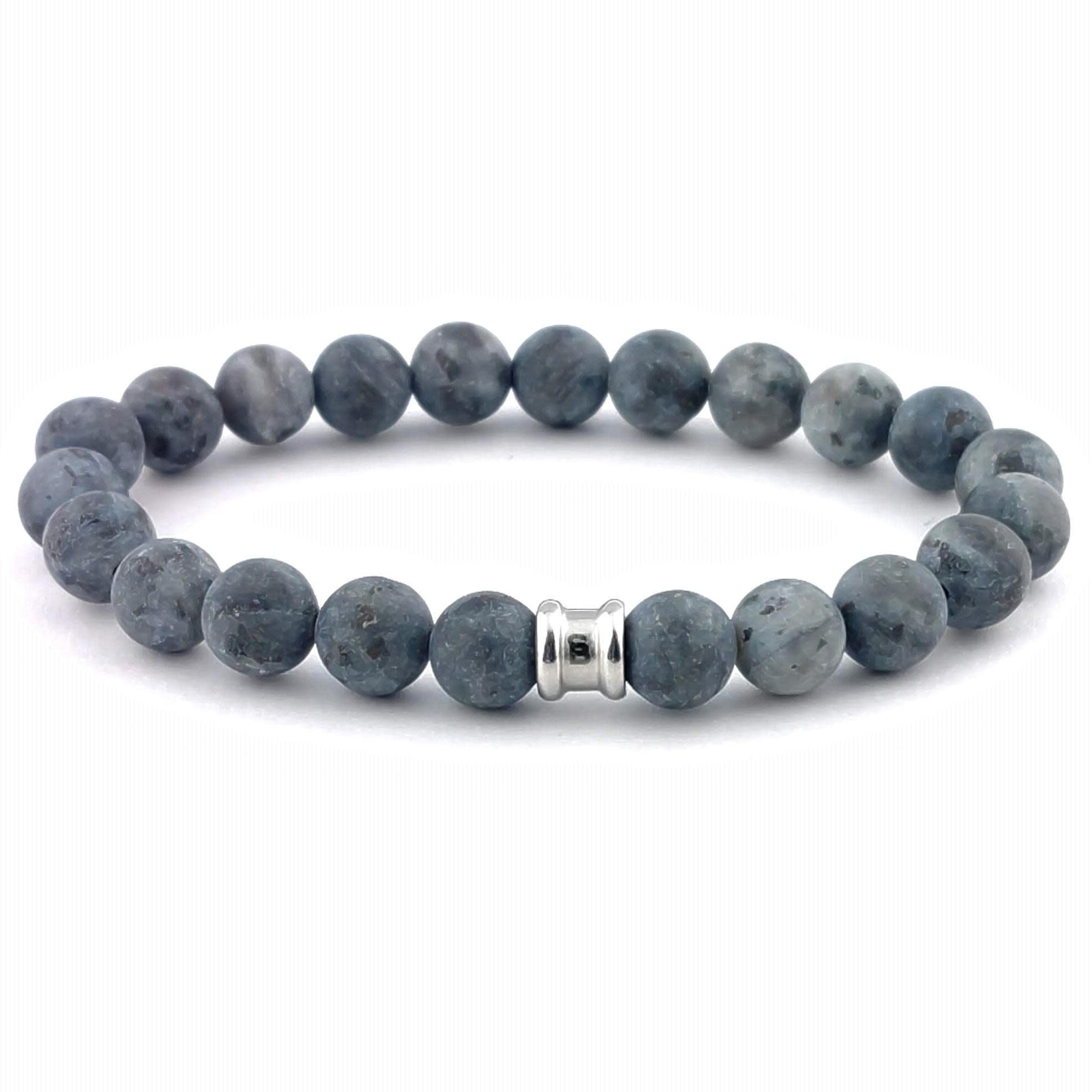 Steel & Barnett Stones bracelet basic - Matt Lavikite - Size S