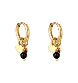 With love Earrings delicate black