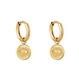 With love Earrings magic eye gold