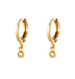 With love Earrings plain dot gold