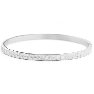 With love With love bangle silver 'croco'