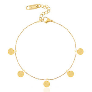 With love Bracelet coins gold