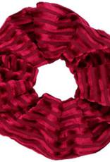 With love Scrunchie velvet port red