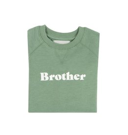 Bob & Blossom Fern green sweater ' Brother'