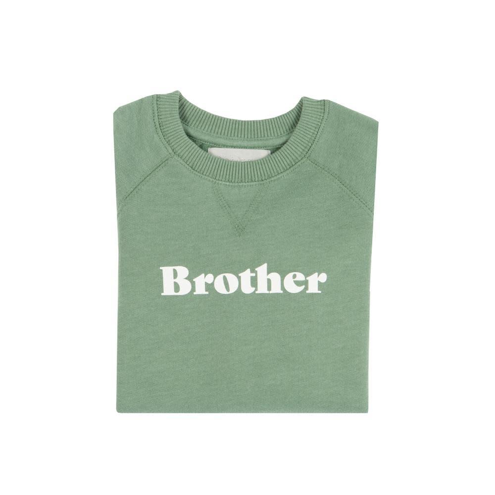 Bob & Blossom Fern green sweater ' Brother'