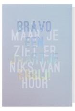 Papette Papette greeting card + enveloppe 'Bravo een jaartje erbij!'