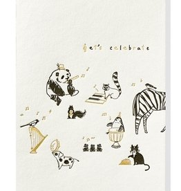 Papette Papette greeting card + enveloppe 'Let's celebrate'