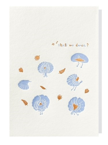 Papette Papette greeting card + enveloppe 'Shall we dance?'