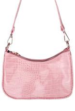 With love Handbag croco - Light pink 20 x 14 cm