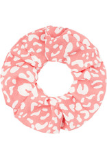 With love Scrunchie pastel pattern - coral