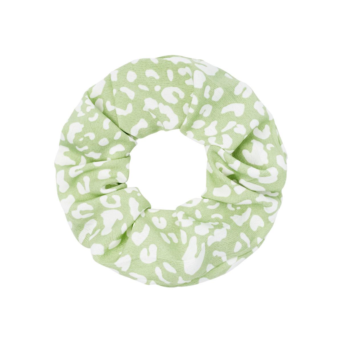 With love Scrunchie pastel pattern - green
