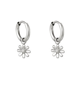With love Earrings little daisy gold