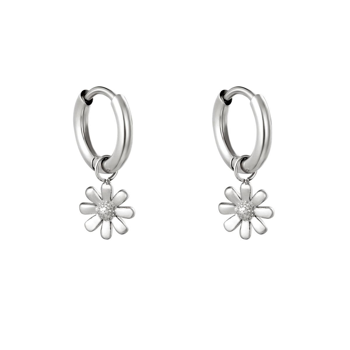 With love Earrings little daisy silver
