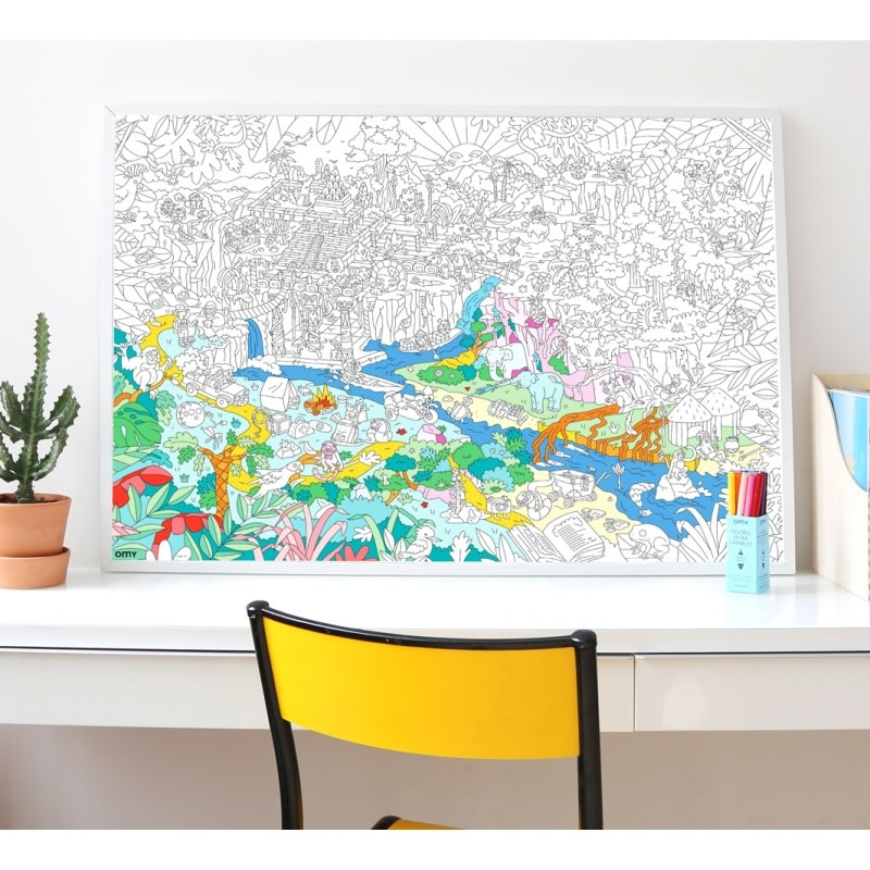 OMY Omy coloring poster 100 x 70 Jungle