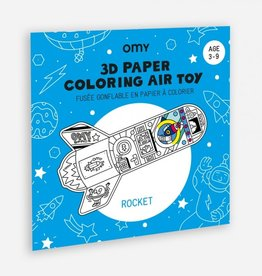 OMY OMY 3D paper coloring  air toy - Rocket