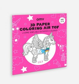 OMY OMY 3D paper coloring  air toy - Lily