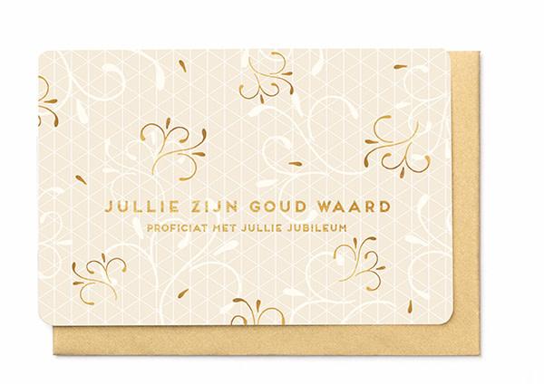 Enfant Terrible Enfant Terrible card  + enveloppe 'Jullie zijn goud waard'