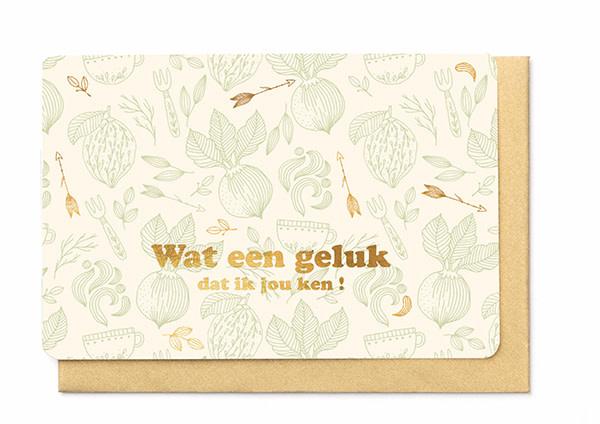 Enfant Terrible Enfant Terrible card  + enveloppe 'Wat een geluk dat ik jou ken'