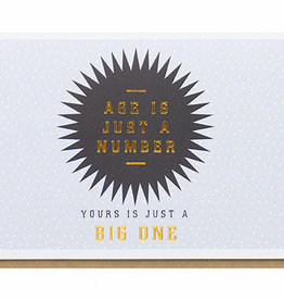 Enfant Terrible Enfant Terrible card  + enveloppe 'Age is just a number, yours is just a big one'