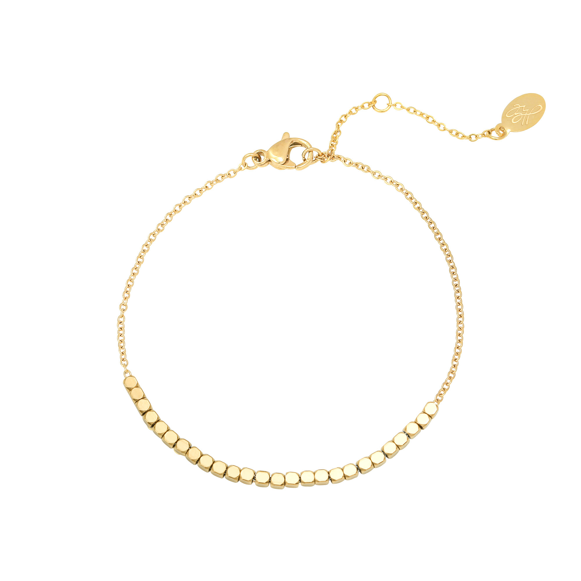 With love Bracelet Line of dots gold