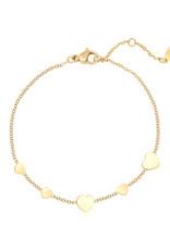 With love Bracelet row coins heart